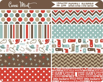 Baby Buckaroo Western Digital Papers