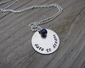 "Graduation Necklace, Inspiration Necklace- ""dare to dream"" with an accent bead in your choice of colors- Hand-Stamped Jewelry"