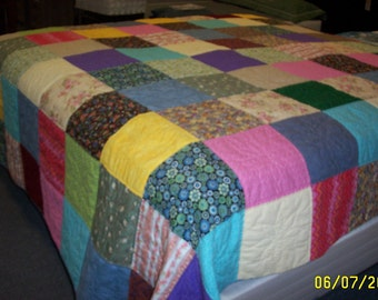 Patchwork King size quilt