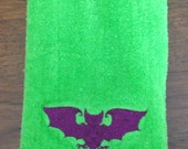 Baroque Bat Embroidered Bath Hand Towel