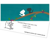 Kitten Party Favors ~ Kitten Bookmark ~ Audrey Hepburn Quote