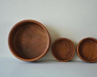 Vintage Teakwood salad bowls