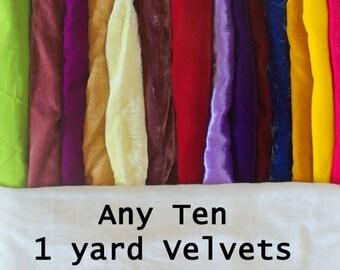 Velvet any ten of one yard each - you pick