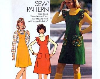 Simplicity 7075 Vintage 70s Misses' Jumper Sewing Pattern - Uncut - Size 12 - Bust 34