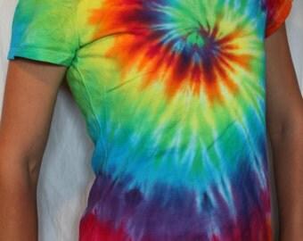 Tie dye Ladies fit tee shirt