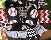 Baseball Girl Over The Top Bow