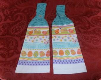 crochet easter towel