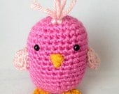 Beatrice, plush bird toy, animal stuffed plushie, crochet amigurumi