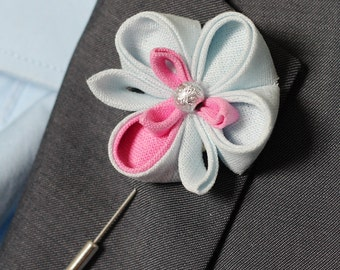 Orchid lapel flower, wedding boutonniere, lapel flower pin