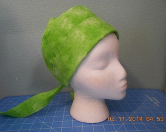 FREE SHIPPING in U.S....Women's Tie N The Back Scrub Hat...Great for short hair