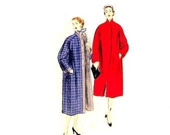 Vintage 1950s Vogue 7781 Uncut  Reversible Coat Pattern Bust 32 Size Small