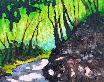 San Diego Landscape Painting- Balboa Park Forest