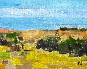 Crystal Cove Landscape Painting, Laguna Beach