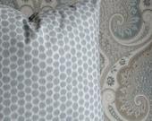 KRAVET Dotkat - BOTH SIDES - Decorative pillow cover - Throw Pillow - Accent pillow - lumbars - ikat pillow - silversage