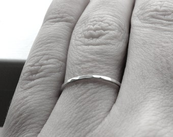 The Super Skinny, Sterling Silver Stacking Ring, Thin Ring Band, Sterling Silver Stacking Rings, Skinny Rings, Skinny Stacking Ring, Texured