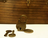 Ready To Ship -  Vintage-Style Antique Bronze Mini Padlock
