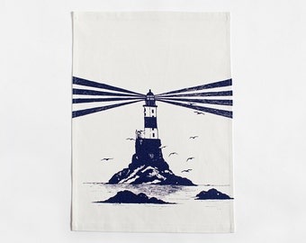 Lighthouse Tea Towel- Natural