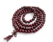 8mm 108 Wood Meditation Yoga Tibetan Buddhist Prayer Beads Japa Mala  ZZ233