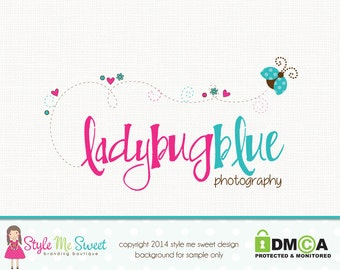ladybug logo design premade logo design photography logo design graphic design photographers logo jewelry logo bespoke logo design watermark