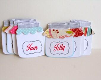 Little mason jar tags, Jam jar labels, Jelly jar labels, Jam jar tags, Jelly jar tags, Mason jar labels, gift tags