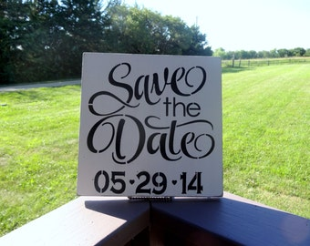 Save The Date Beach Wedding Engagement Announcement Photo Prop Sign Decoration