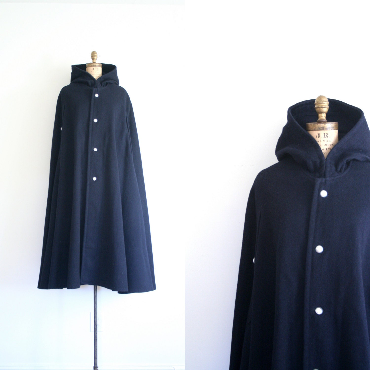 Reserved For A Vintage French Police Cloak Midnight Blue