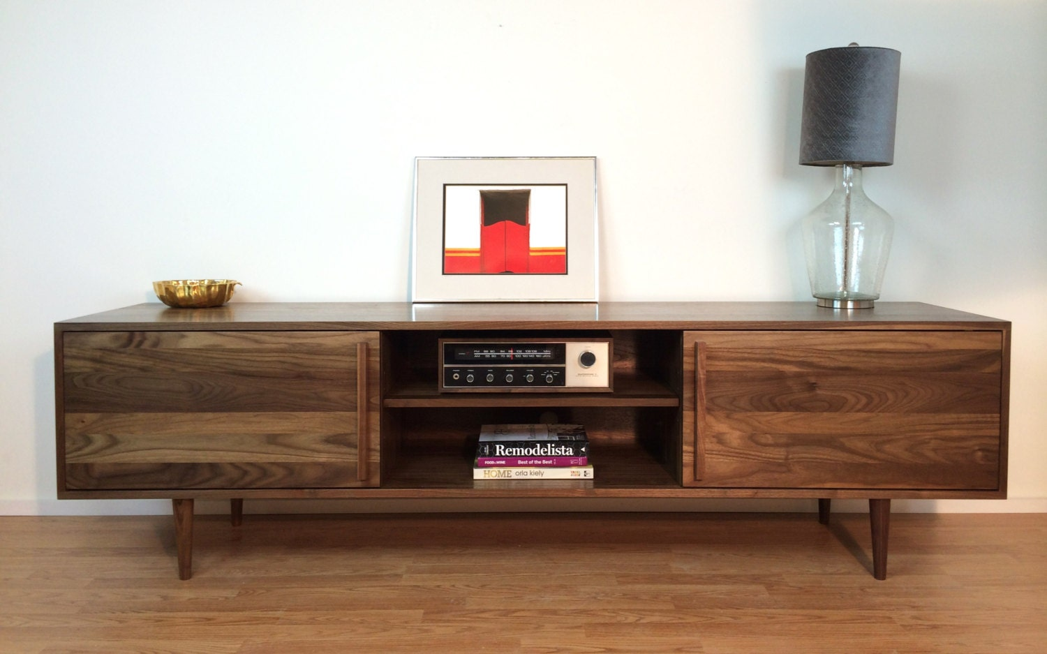 Kasse Credenza Tv Stand 84 In Solid Walnut