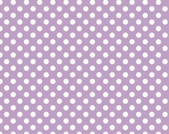 Riley Blake Designs - Small Dots in Lavendar - Cotton Fabric - 1 Yard