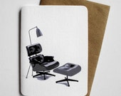 Eames Lounger Card - Mid Century Modern greeting card