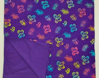 Blanket Purple Butterfly Floor Blanket For Baby ~ Cotton