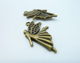 15pcs 20x29mm Antique Bronze The Dancing Angel Girl Charms Pendant c659