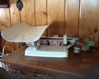 Antique Baby Scale Detecto Art Deco 1940's Medical Doctors Scale On SALE