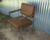 On Sale Vintage Brown Plastic Steel Steelcase Office Chair New Orleans Industrial Retro Steampunk Furniture Brown Doctor Office