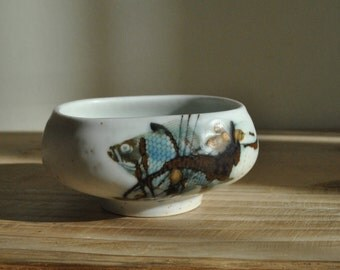 Vintage Royal Copenhagen mid century Nils Thorsson Fish bowl - 1059 5329 - signed - Rare
