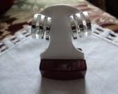 Atlantis Vintage Clip Hoop Earrings by Sarah Coventry