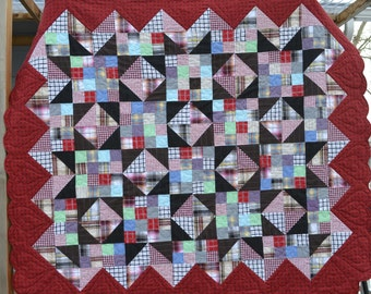 Heart Border MEMORY QUILT - Made to order 54x60