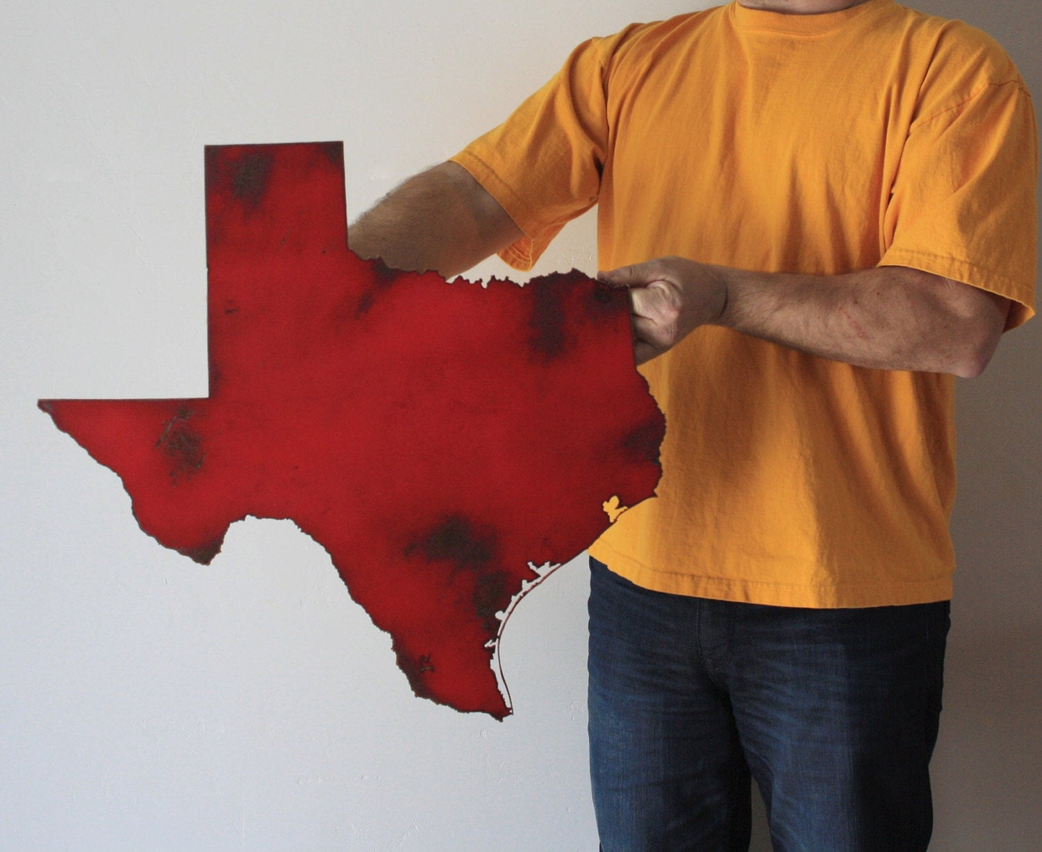 Texas Map Metal Wall Art 23 Wide Tx Wall Decor