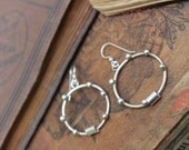Earrings, hoop earrings, sterling silver earrings