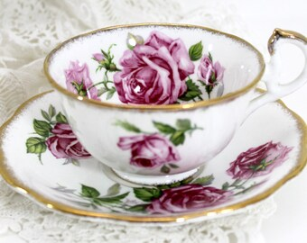 Orleans Rose Cup and Saucer - Royal Standard Teacup and Saucer - 13649