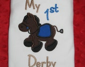 My first Derby Onesie/shirt - Kentucky Derby Kids Shirt - Personalized with name