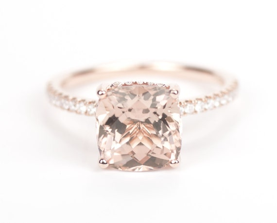 Morganite ring rose gold