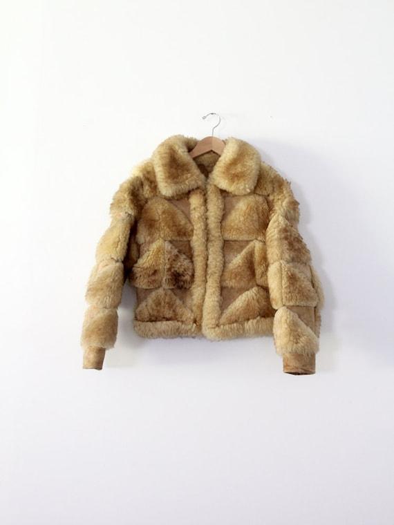 vintage shearling fur coat