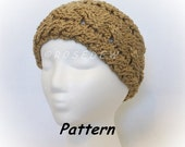 Instant Download to PDF Crochet PATTERN: Thick and Textured Cabled Headband