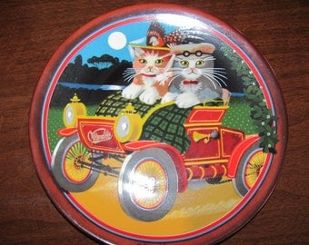 """Vintage """"My Merry Oldsmobile"""" German Porcelain Collector's Plate by Thaddeus Krumeich - 1985 - Anna Perenna - Collectible"""