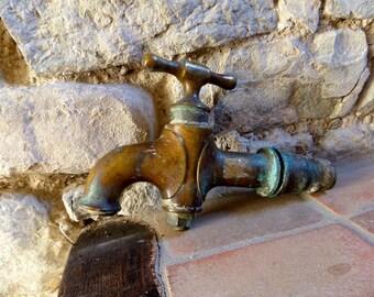 Huge Antique old Fountain  Bronze Tap 1900s