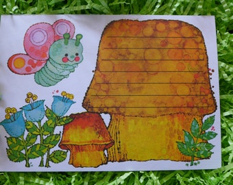 Super Sweet Vintage Current Mushroom and Butterfly Postcards