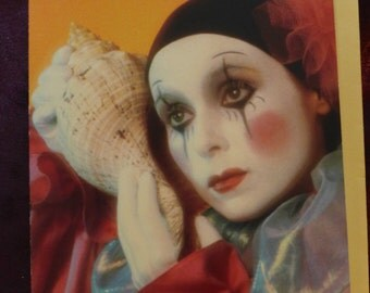Whispers Pierrot Seashell Greeting Card 1987