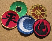 Avatar Emblems and Nations Choose  1 machine embroidered Iron on OR Sew on Patch
