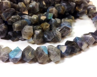 Full strand 12 to 18 MM Natural Labradorite Stone - Irregular Large Nugget Faceted Beads (MJ2006R100)