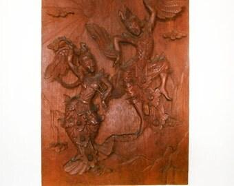 Vintage Hand Carved Oriental dancers